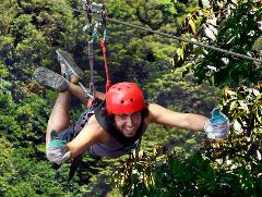 100% Aventura Canopy Tour,  includes: Super Man &  Mega Tarzan Swing (Total Adrenaline)