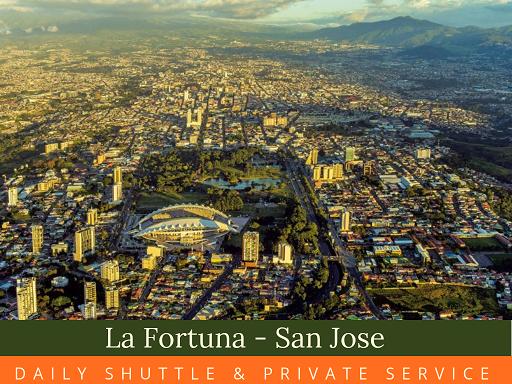 San Jose  La Fortuna Shuttel Service