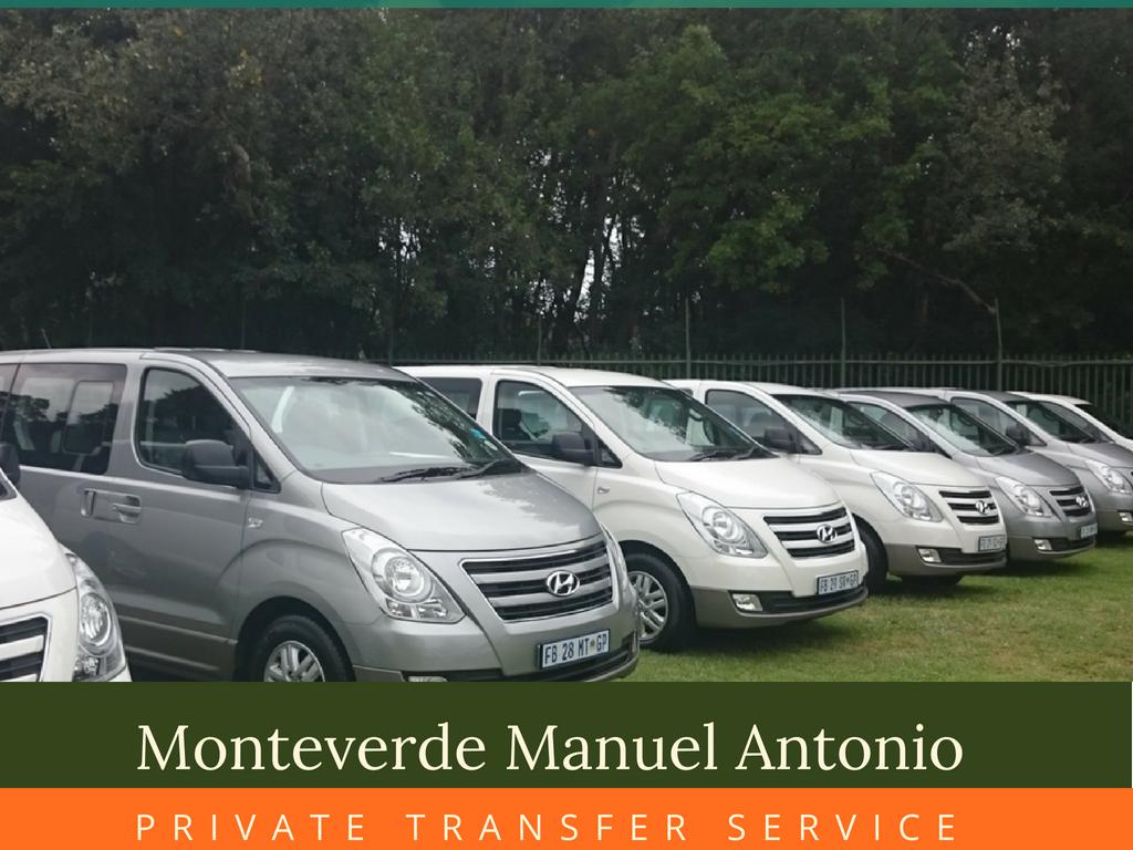 Private Shuttle Monteverde Manuel Antonio