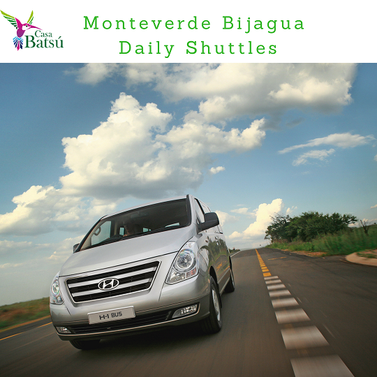 Shuttle from  Monteverde to Bijagua 8:00 am
