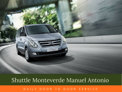 Shuttle Service Monteverde Manuel Antonio 8:00 am
