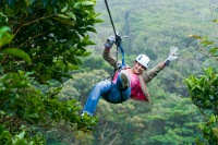 Combo Sky Walk Hanging Bridges Guided Tour + Sky Tram cable car over continetal divide + Amazing Sky Trek Zipline