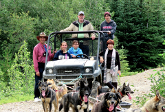 Yukon Summer Sled Dogs