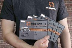 $100 BREWVANA Gift Certificate (matched for donation)