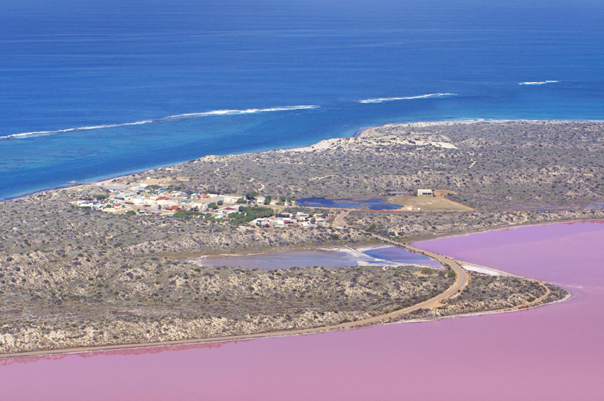 Hutt Lagoon Pink Lake Flight