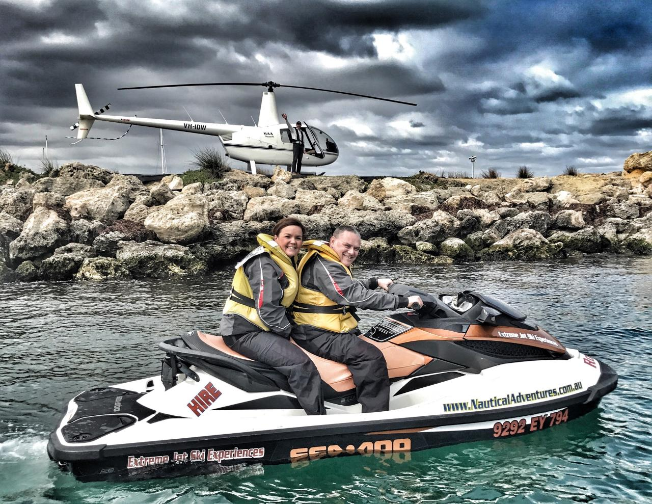 HELICOPTER/JET SKI PACKAGE $225PP MiN 2 PAX