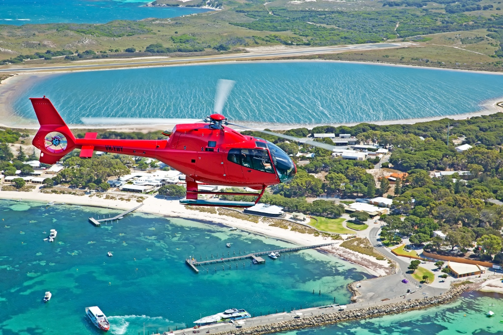 HELI/ FERRY PACKAGE from $550pp. Private flight departs from Hillarys Boat Harbour. Click return box to book  return ferry on the day of your choice. Min 2 pax.