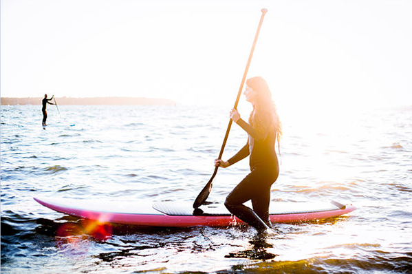 Sunset Stand Up Paddle Boarding Flat Water Tour ex Rainbow Beach