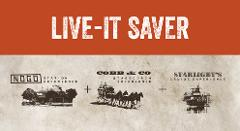 Live-It Saver - 3 tours. Save 15%