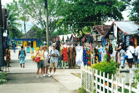 Shopping in Montego Bay with Rose Hall Great House (From Negril)