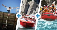 Triple thriller - JET RAFT BUNGY