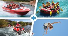 Hanmer Springs Challenge - Jet Boat/Raft/Bungy/Quad Twin Seater For Two