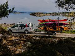 Pickup drop off kayaks Tjörn