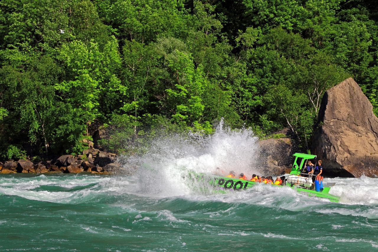 Niagara Falls Tour:  Lewiston, NY Whirlpool Boat Tour – Wet Jet Ride