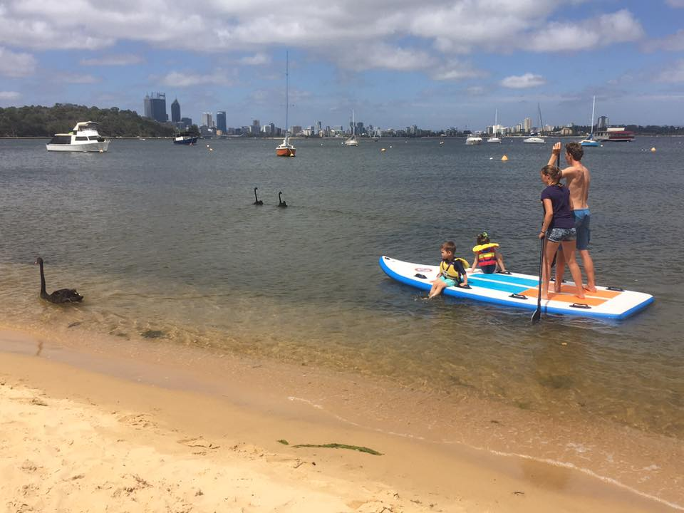 Swan River (Perth CBD) SUPER SUP Hire - GROUP BOOKING (4-8 person capacity)