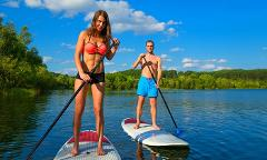 SUP lesson in beautiful Byron Marine Park
