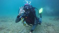 Mergulho - Batismo no mar da Arrábida
