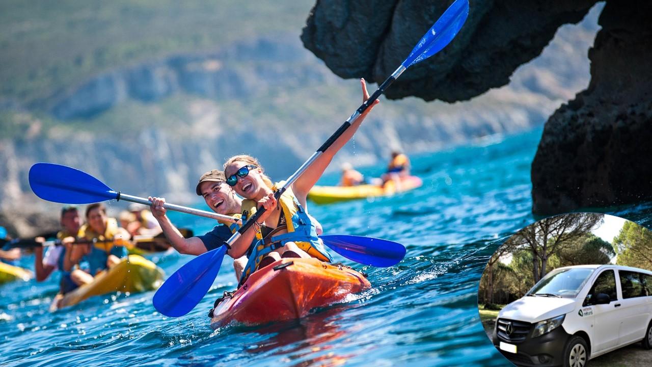 Tour de Kayak por Sesimbra Selvagem com transfer