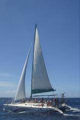 FULL DAY CRUISE EAST (ILE AUX CERFS) - Blue Alize III   Bare Boat Charter